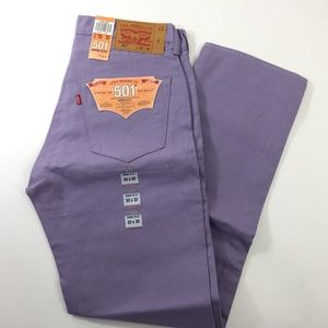 Levis 501 Shrink to Fit Denim Purple 33 AA00011